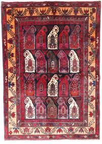 Zanjan Teppe 145X210 Ekte Orientalsk Håndknyttet Mørk Rød/Mørk Brun (Ull, Persia/Iran)