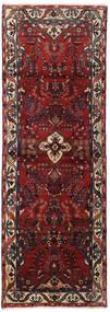 Hamadan Teppe 102X292 Ekte Orientalsk Håndknyttet Teppeløpere Mørk Rød/Mørk Grå (Ull, Persia/Iran)