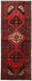 Hamadan Teppe 107X284 Ekte Orientalsk Håndknyttet Teppeløpere Mørk Rød/Mørk Brun (Ull, Persia/Iran)