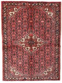 Hosseinabad Teppe 149X200 Ekte Orientalsk Håndknyttet Mørk Rød/Brun (Ull, Persia/Iran)
