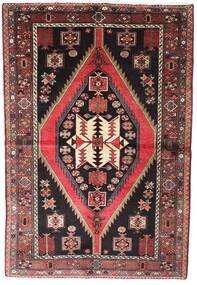Hamadan Teppe 148X218 Ekte Orientalsk Håndknyttet Svart/Brun (Ull, Persia/Iran)