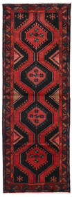 Hamadan Teppe 100X286 Ekte Orientalsk Håndknyttet Teppeløpere Mørk Rød (Ull, Persia/Iran)