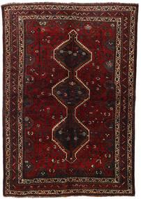 Ghashghai Teppe 155X225 Ekte Orientalsk Håndknyttet Mørk Rød (Ull, Persia/Iran)
