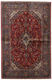 Keshan Teppe 135X209 Ekte Orientalsk Håndknyttet Mørk Rød/Mørk Brun (Ull, Persia/Iran)