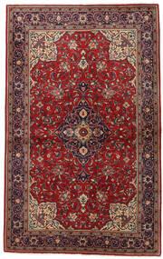 Sarough Teppe 131X211 Ekte Orientalsk Håndknyttet Mørk Rød/Mørk Grå (Ull, Persia/Iran)