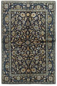 Keshan Teppe 134X205 Ekte Orientalsk Håndknyttet Mørk Blå/Mørk Grå (Ull, Persia/Iran)