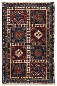 Yalameh Teppe 78X122 Ekte Orientalsk Håndknyttet Mørk Rød/Mørk Grå (Ull, Persia/Iran)