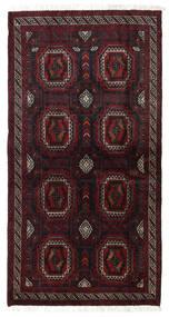 Beluch Teppe 101X193 Ekte Orientalsk Håndknyttet Mørk Rød (Ull, Persia/Iran)