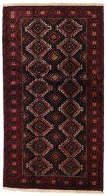 Beluch Teppe 96X173 Ekte Orientalsk Håndknyttet Mørk Brun/Mørk Rød (Ull, Persia/Iran)