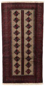 Beluch Teppe 85X166 Ekte Orientalsk Håndknyttet Mørk Brun/Mørk Rød (Ull, Persia/Iran)