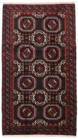 Beluch Teppe 99X172 Ekte Orientalsk Håndknyttet Svart/Mørk Rød (Ull, Persia/Iran)