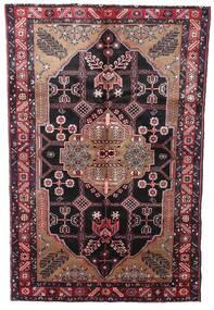 Hamadan Teppe 150X242 Ekte Orientalsk Håndknyttet Mørk Rød/Mørk Brun (Ull, Persia/Iran)