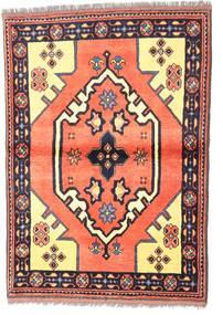 Kazak Teppe 97X135 Ekte Orientalsk Håndknyttet Mørk Lilla/Lyserosa (Ull, Pakistan)