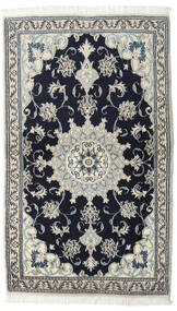 Nain Teppe 90X152 Ekte Orientalsk Håndknyttet Svart/Mørk Grå (Ull, Persia/Iran)