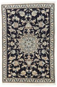 Nain Teppe 90X135 Ekte Orientalsk Håndknyttet Mørk Blå/Lys Grå/Mørk Grå (Ull, Persia/Iran)