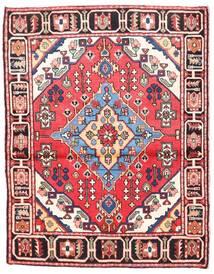 Rudbar Teppe 102X138 Ekte Orientalsk Håndknyttet Beige/Mørk Brun (Ull, Persia/Iran)