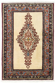 Ardebil Teppe 86X128 Ekte Orientalsk Håndknyttet Beige/Mørk Brun (Ull, Persia/Iran)