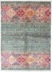 Shabargan Teppe 148X209 Ekte Moderne Håndknyttet Mørk Grå/Lyserosa (Ull, Afghanistan)