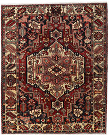 Bakhtiar Teppe 170X207 Ekte Orientalsk Håndknyttet Mørk Rød/Mørk Brun (Ull, Persia/Iran)