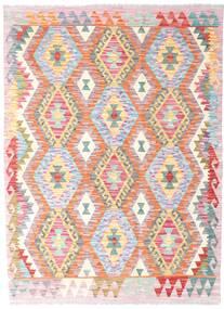 Kelim Afghan Old Style Teppe 126X173 Ekte Orientalsk Håndvevd Lyserosa/Beige (Ull, Afghanistan)
