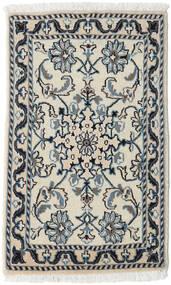 Nain Teppe 60X90 Ekte Orientalsk Håndknyttet Lys Grå/Mørk Beige (Ull, Persia/Iran)