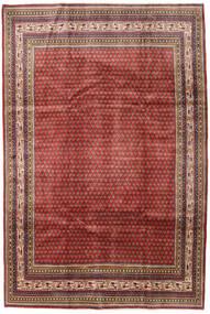 Sarough Mir Teppe 209X314 Ekte Orientalsk Håndknyttet Mørk Rød/Mørk Brun (Ull, Persia/Iran)