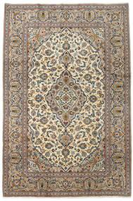 Keshan Teppe 200X300 Ekte Orientalsk Håndknyttet Beige/Svart (Ull, Persia/Iran)