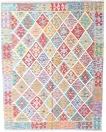 Kelim Afghan Old Style Teppe 158X198 Ekte Orientalsk Håndvevd Lys Grå/Hvit/Creme (Ull, Afghanistan)