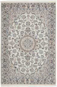 Nain 9La Teppe 114X173 Ekte Orientalsk Håndvevd Lys Grå/Mørk Grå (Ull/Silke, Persia/Iran)
