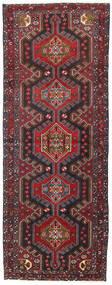 Hamadan Teppe 107X283 Ekte Orientalsk Håndknyttet Teppeløpere Mørk Rød/Svart (Ull, Persia/Iran)