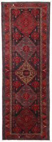 Hamadan Teppe 104X309 Ekte Orientalsk Håndknyttet Teppeløpere Mørk Rød/Svart (Ull, Persia/Iran)