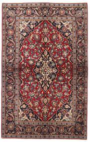 Keshan Teppe 137X218 Ekte Orientalsk Håndknyttet Mørk Rød/Svart (Ull, Persia/Iran)