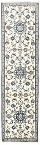 Nain Teppe 75X281 Ekte Orientalsk Håndknyttet Teppeløpere Beige/Lys Grå (Ull, Persia/Iran)