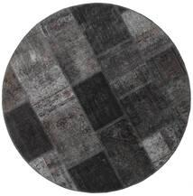 Patchwork - Persien/Iran Teppe Ø 150 Ekte Moderne Håndknyttet Rundt Mørk Grå/Svart (Ull, Persia/Iran)