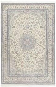 Nain 6La Teppe 207X317 Ekte Orientalsk Håndknyttet Lys Grå/Mørk Beige (Ull/Silke, Persia/Iran)