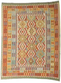 Kelim Afghan Old Style Teppe 254X327 Ekte Orientalsk Håndvevd Mørk Beige/Mørk Rød Stort (Ull, Afghanistan)