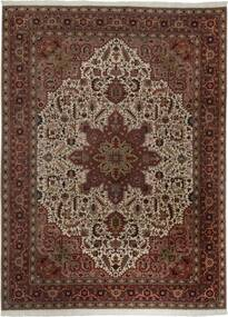 Tabriz 50 Raj Teppe 300X400 Ekte Orientalsk Håndvevd Mørk Rød/Brun Stort (Ull/Silke, Persia/Iran)