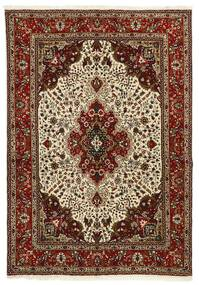 Tabriz 40 Raj Teppe 147X206 Ekte Orientalsk Håndvevd Mørk Brun/Lysbrun (Ull/Silke, Persia/Iran)
