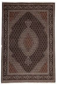Tabriz 40 Raj Teppe 200X300 Ekte Orientalsk Håndvevd Mørk Brun/Lysbrun (Ull/Silke, Persia/Iran)