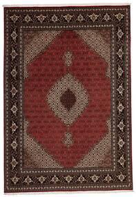 Tabriz 40 Raj Teppe 205X296 Ekte Orientalsk Håndvevd Mørk Rød (Ull/Silke, Persia/Iran)