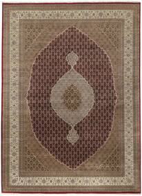Tabriz Royal Teppe 299X402 Ekte Orientalsk Håndknyttet Brun/Lys Grå Stort ( India)