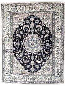 Nain Teppe 196X253 Ekte Orientalsk Håndknyttet Lys Grå/Mørk Grå (Ull, Persia/Iran)