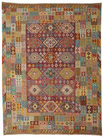 Kelim Afghan Old Style Teppe 265X347 Ekte Orientalsk Håndvevd Mørk Brun/Lysbrun Stort (Ull, Afghanistan)