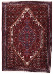 Senneh Teppe 74X105 Ekte Orientalsk Håndknyttet Mørk Rød (Ull, Persia/Iran)