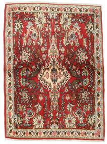 Senneh Teppe 107X150 Ekte Orientalsk Håndknyttet Mørk Brun/Rust (Ull, Persia/Iran)