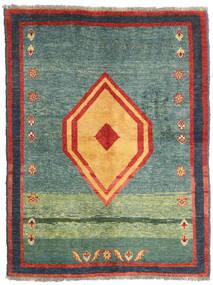 Gabbeh Rustic Teppe 137X178 Ekte Moderne Håndknyttet Grønn/Mørk Grå (Ull, Persia/Iran)