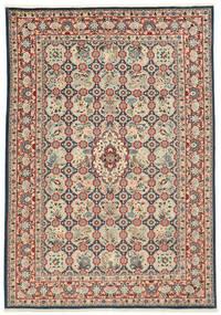 Varamin Teppe 203X285 Ekte Orientalsk Håndknyttet (Ull/Silke, Persia/Iran)