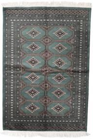 Pakistan Bokhara 2Ply Teppe 140X204 Ekte Orientalsk Håndknyttet Mørk Grå/Mørk Grønn (Ull, Pakistan)