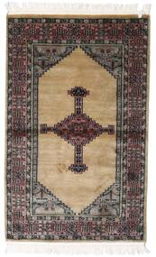 Pakistan Bokhara 3Ply Teppe 93X148 Ekte Orientalsk Håndknyttet Mørk Brun/Lysbrun (Ull, Pakistan)