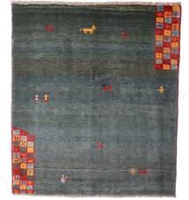 Gabbeh Rustic Teppe 163X186 Ekte Moderne Håndknyttet Blå/Lys Grå (Ull, Persia/Iran)